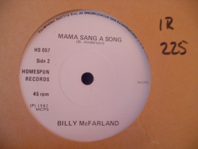 BILLY McFARLAND - RATHLIN ISLAND - HOMESPUN 057