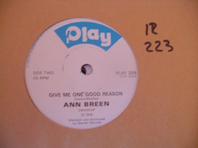 PLAY 209 - ANN BREEN - I'LL SACRIFICE - PLAY 209