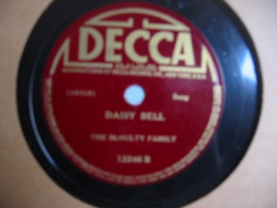 The McNULTY FAMILY - DAISY BELL = DECCA 12246