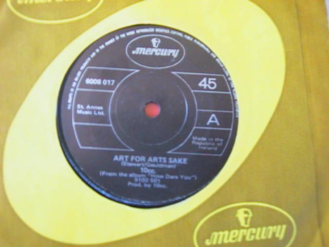 10 CC - ART FOR ART - MERCURY RECORDS - IRISH PRESSING