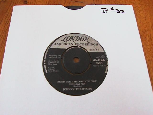 JOHNNY TILLOTSON - LONDON RECORDS - IRISH PRESSING # 2