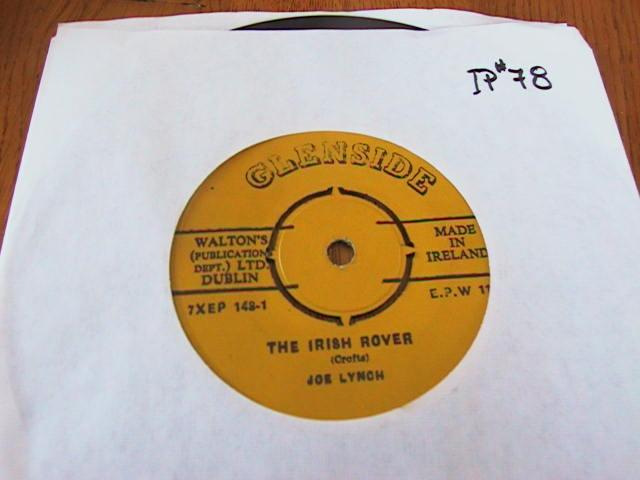 JOE LYNCH - GLENSIDE RECORDS IRISH PRESS # 2