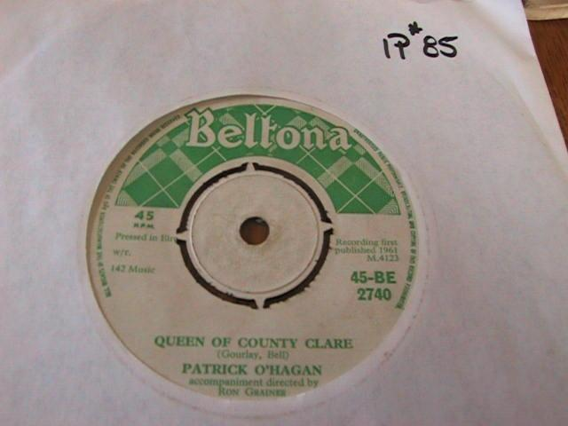 PATRICK O'HAGAN - BELTONA RECORDS IRISH PRESSING