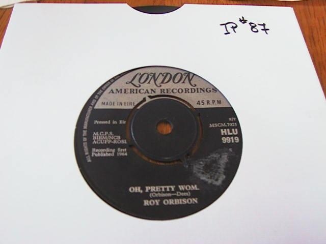 ROY ORBISON - LONDON RECORDS IRISH PRESSING