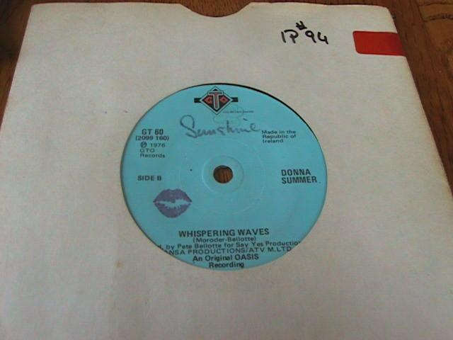 DONNA SUMMER - GTO RECORDS IRISH PRESS