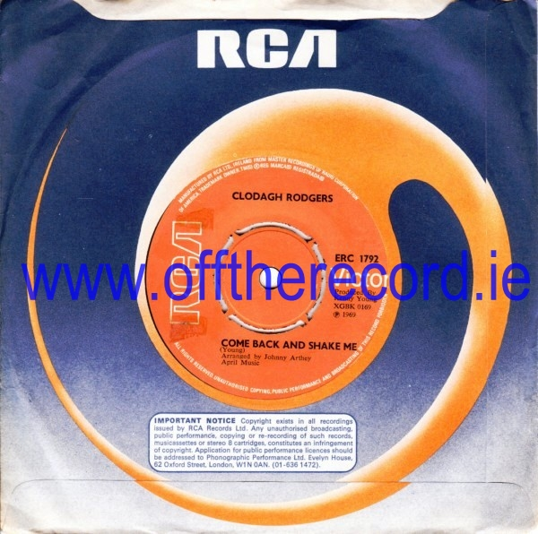 Clodagh Rodgers - Come back & shake me - RCA 1969