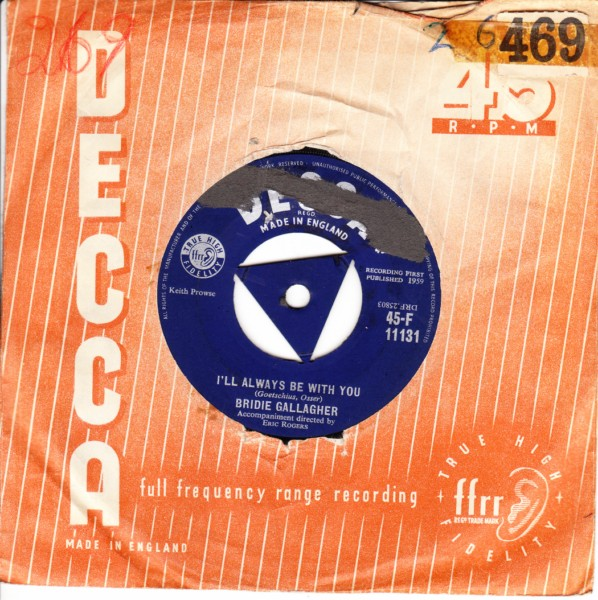 Bridie Gallagher - Stay with me - Decca UK 1959