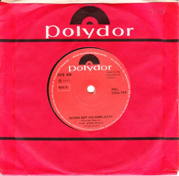 Polydor 2078038 - Phil Coulter - Town I loved so well - 1973