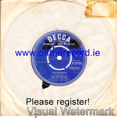 Pat McGeegan - The Wedding - Decca Demo