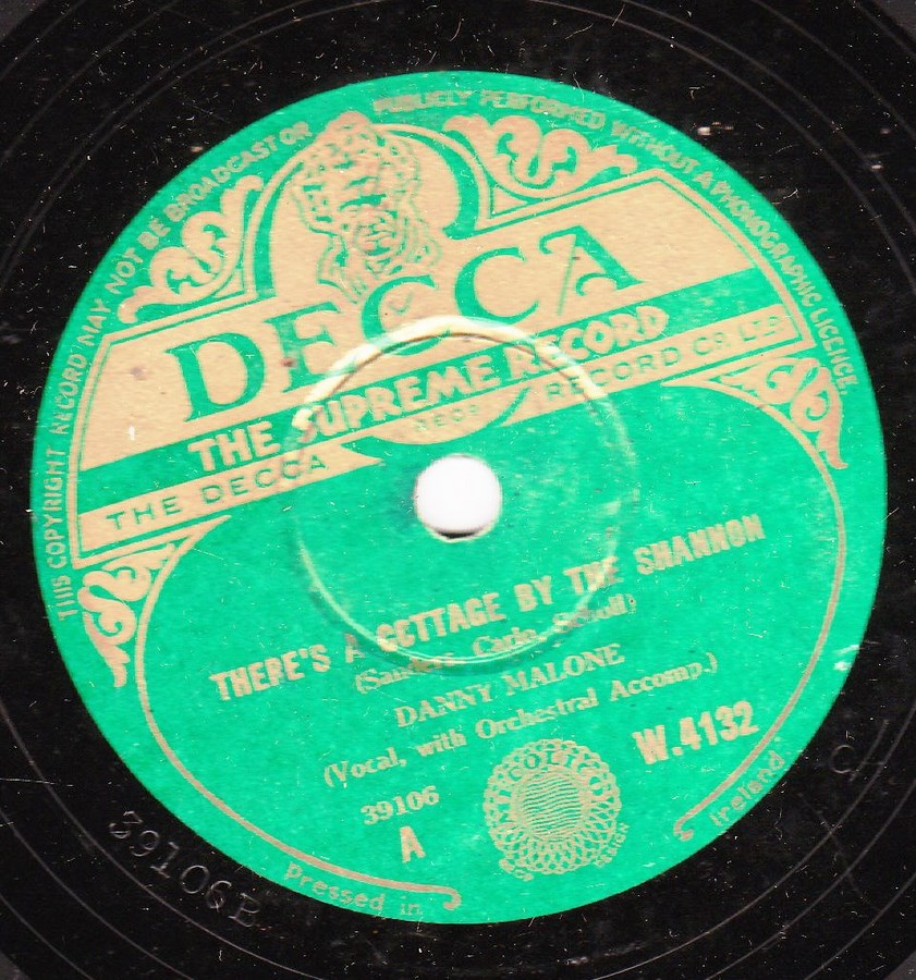 Danny Malone - Ill take you Home again Kathleen - Decca W 4132