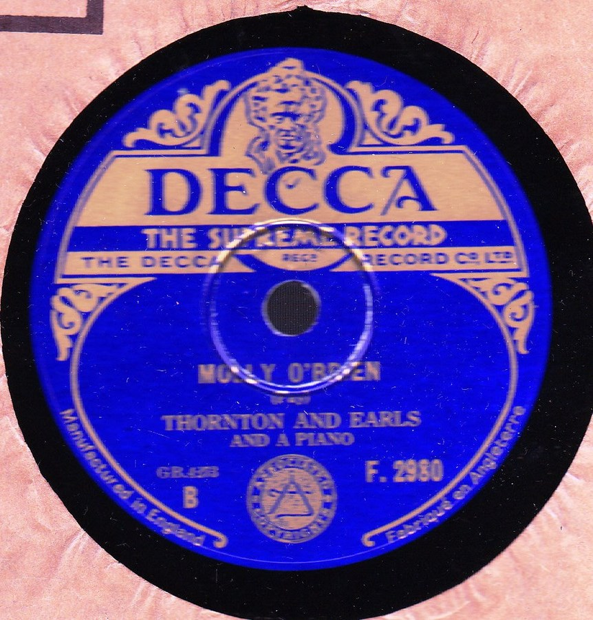 Thornton & Earls - Come Back Paddy Rielly - Decca F.2980