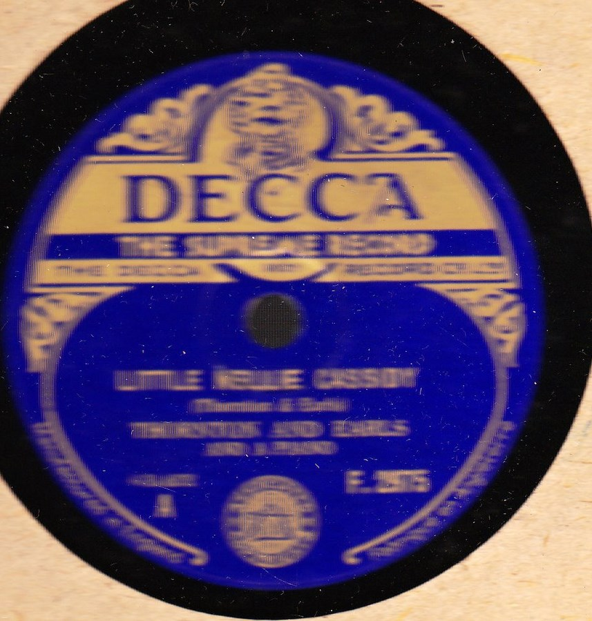 Thornton & Earls - Lettle Nellie Cassidy - Decca F. 2975