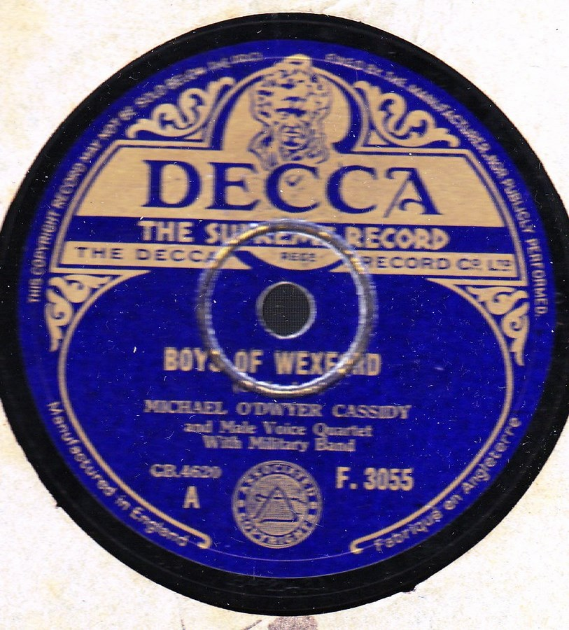 Michael O'Dwyer Cassidy - Boys of Wexford - Decca F.3055
