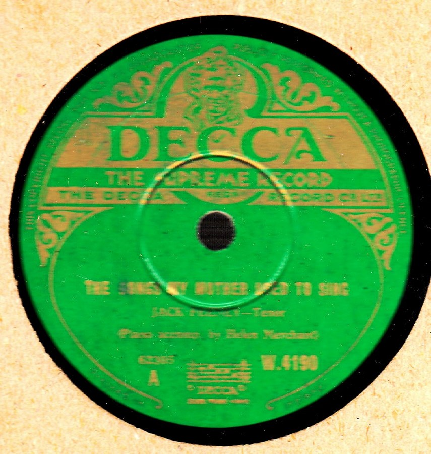 Jack Feeney - Teddy O'Neale - Decca W.4190 Irish