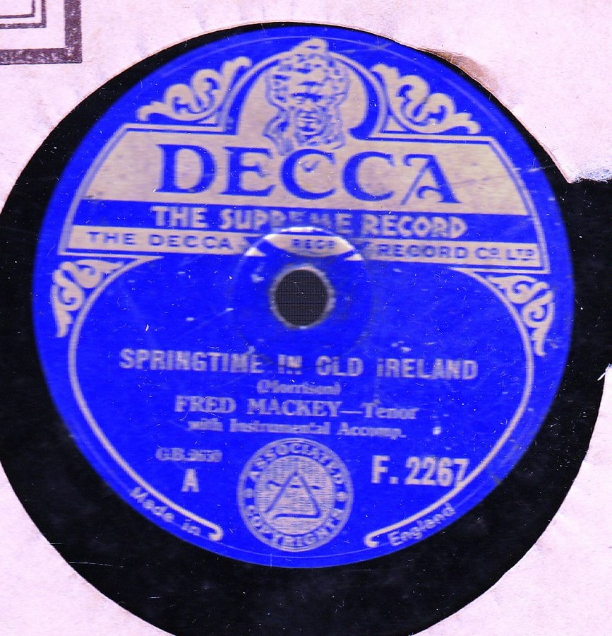 Fred Mackey - Springtime in Old Ireland - Decca F.2267
