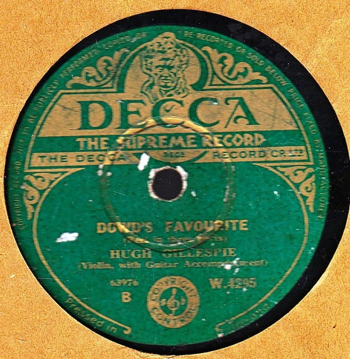 Hugh Gillespie - Jennys Welcome to Charlie - Decca W 4295