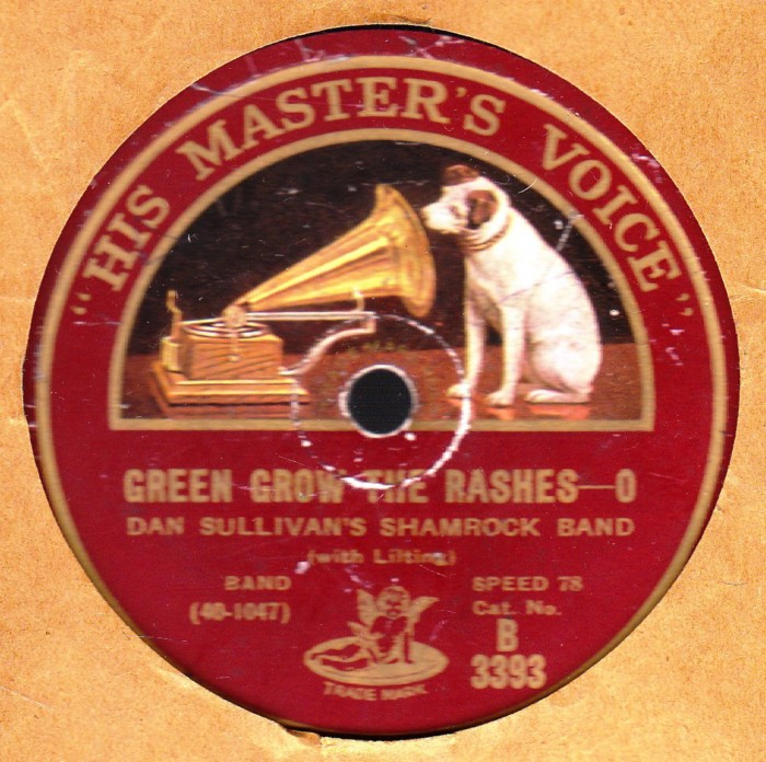 Dan Sullivan's Shamrock Band - Green Grow The Rushes - HMV
