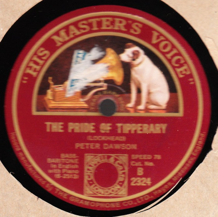 Peter Dawson - The Pride Of Tipperary - HMV B. 2324 UK