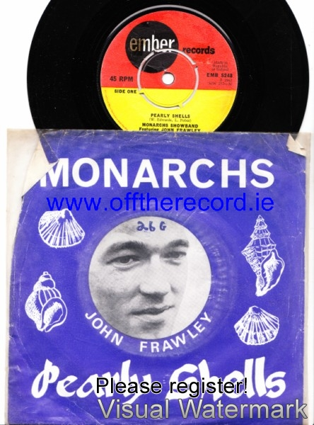 John Frawley & The Monarchs - Pearly Shells - Ember 248 P/S
