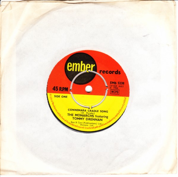 Tommy Drennan & The Monarchs - Commemara - Ember EMB 238