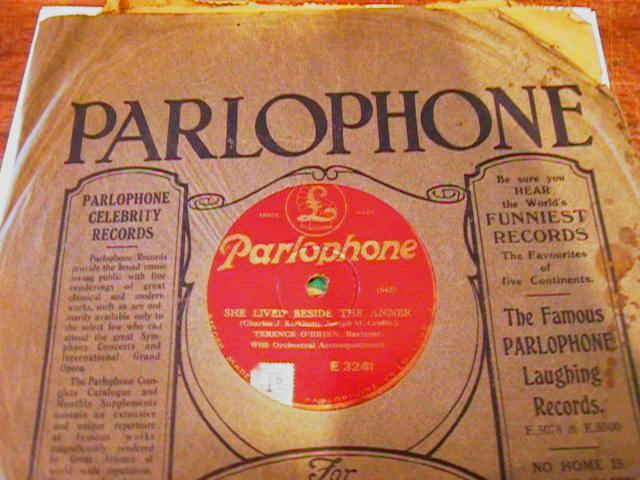 TERENCE O BRIEN - PARLOPHONE 78 RPM - IRP 3