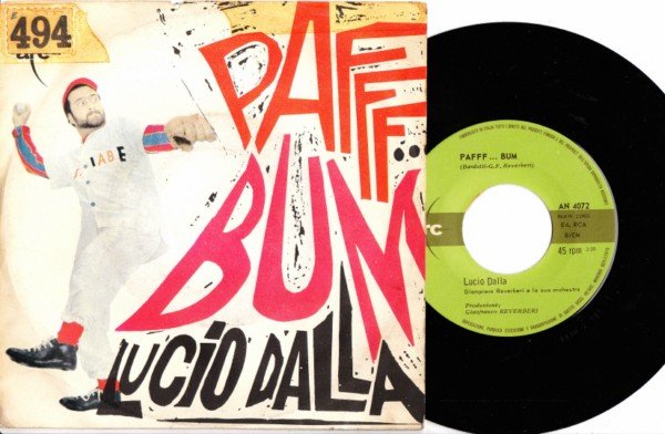 Lucio Dalla - Paff Bum - Arc Picture Sleeve 3995
