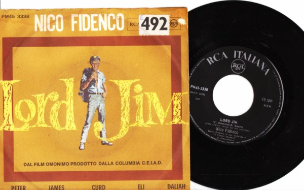 Nico Fidenco - Lord Jim - RCA Italy Picture Sleeve 3992