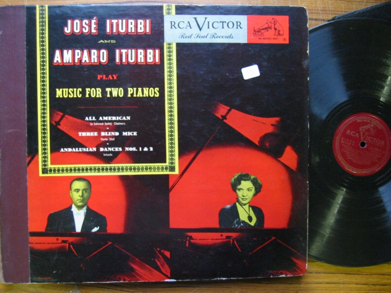 JOSE & AMPARO ITURBI - Music for 2 Pianos - RCA DM 1246