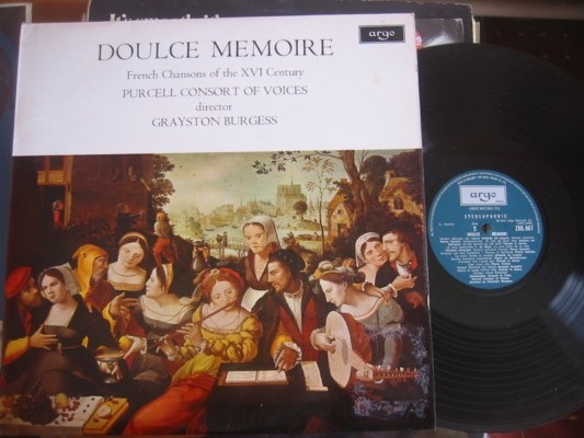 PURCELL - DOULCE MEMOIRE - G. BURGESS - ARGO