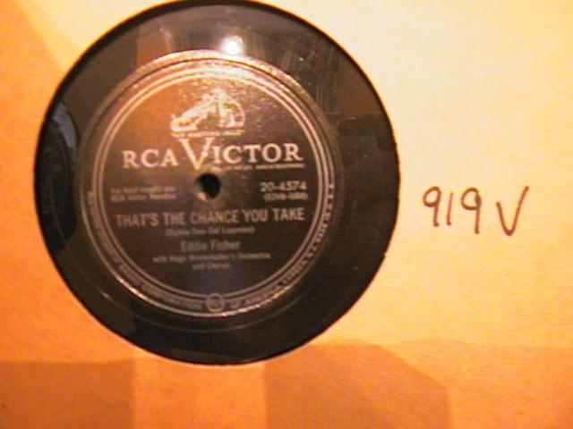 EDDIE FISHER - VICTOR 20- 4574 - { 919V