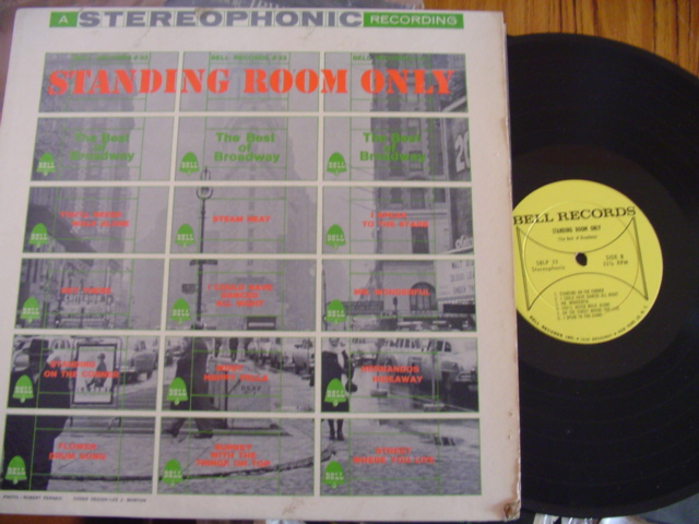 VARIOUS - STANDING ROOM ONLY - BROADWAY - BELL RECORDS
