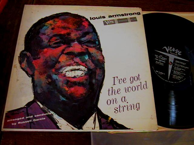 LOUIS ARMSTRONG - WORLD ON STRING - DECCA - J 406