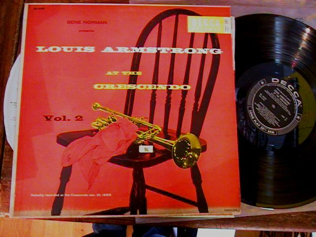LOUIS ARMSTRONG - AT THE CRESCENDO - DECCA - J 410