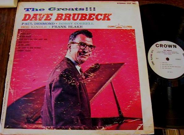DAVE BRUBECK - THE GREATEST - CROWN RECORDS - J 530