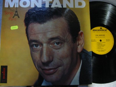 YVES MONTAND - SONGS FOR PARIS - MONITOR { M 483
