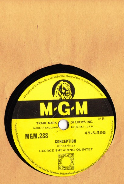 George Shearing Quintet - Conception - M.G.M. UK