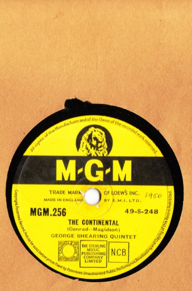 George Shearing Quintet - The Comtinental - M.G.M. UK