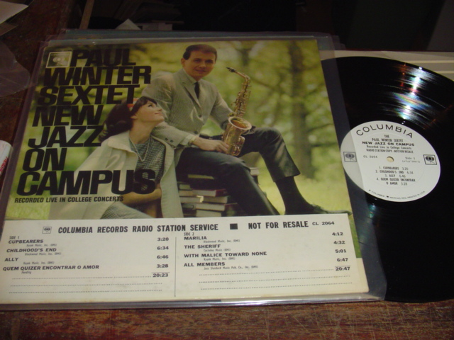 PAUL WINTER SEXTET - JAZZ ON CAMPUS - COLUMBIA - J 248
