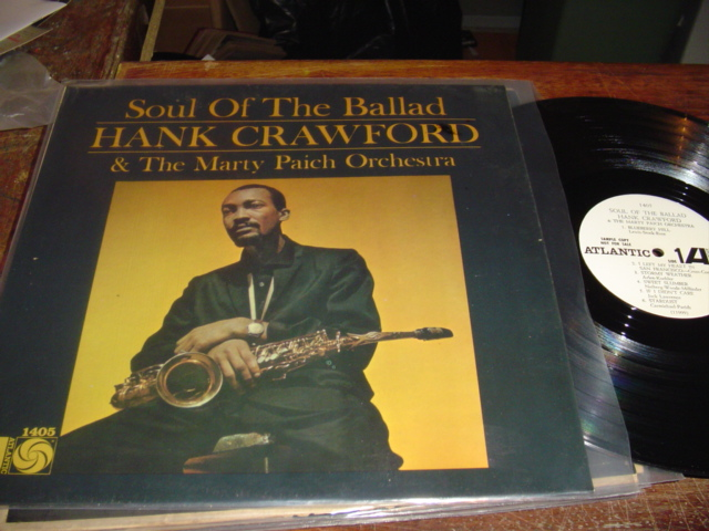 HANK CRAWFORD - SOUL OF THE BALLAD - ATLANTIC PROMO - J 240
