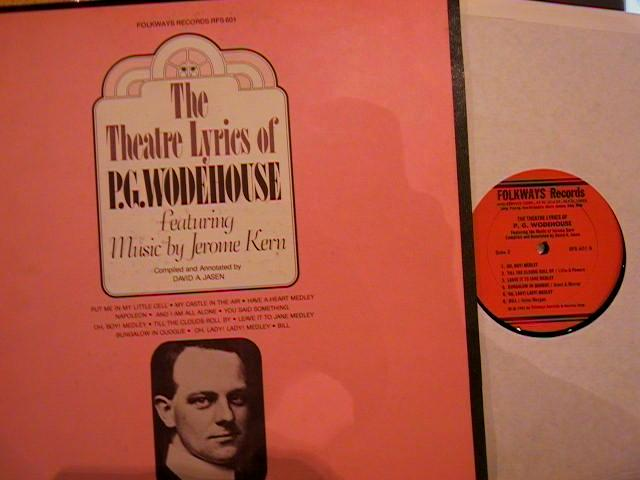 JEROME KERN - LYRICS P.G. WOODHOUSE - FOLKWAYS