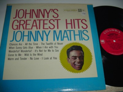 JOHNNY MATHIS - GREATEST HITS - COLUMBIA { 198