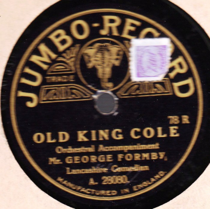 George Formby - Old King Cole - Jumbo A.28080