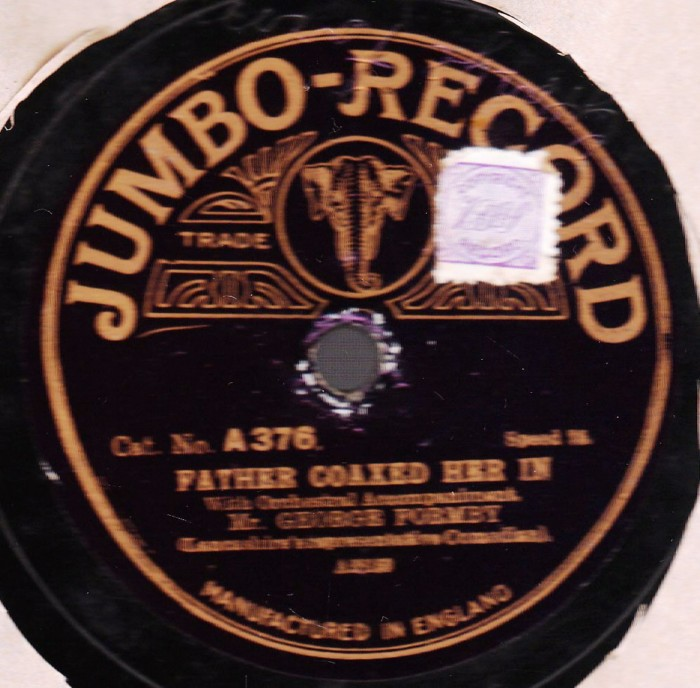 George Formby - Father Coaxed her in - Jumbo A 28159