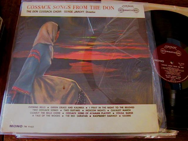 DON COSSACK - SONGS FROM DON - JARPFF - LONDON 1553