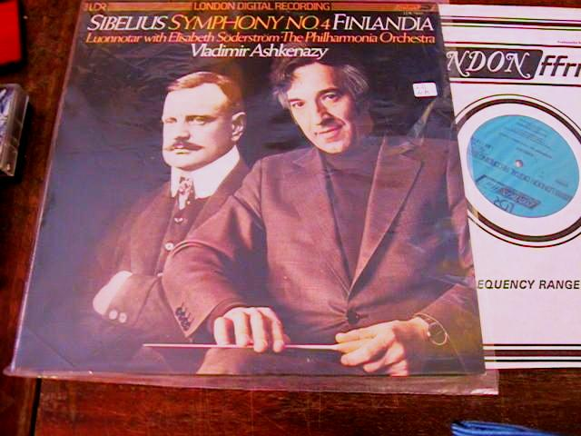 SIBELIUS SYMPH No 4 - Ashkenazy - LONDON - 1586