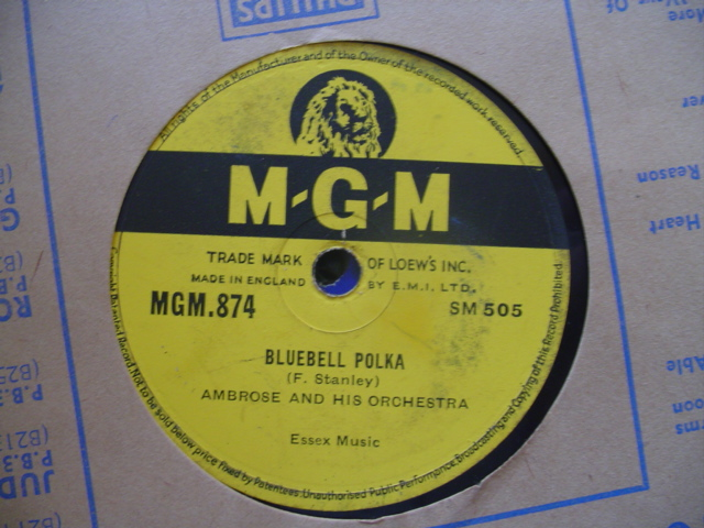 AMBROSE & ORCHESTRA - BLUEBELL POLKA - MGM