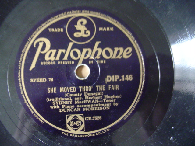 SYDNEY MacEWAN - MOVED THROUGH - PARLOPHONE IRISH PRESS