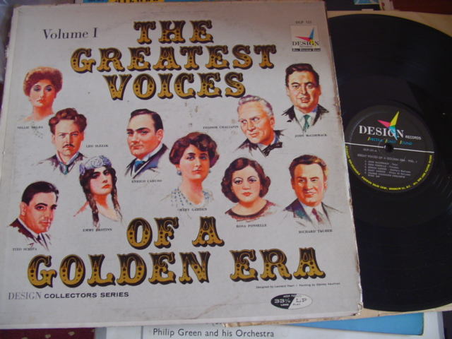 VARIOUS - GREATEST VOICES OF GOLDEN ERA - VOL 1 - DESIGN
