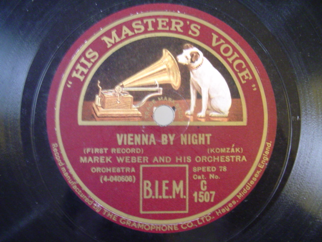 MAREK WEBER - VIENNA BY NIGHT - HMV 1507