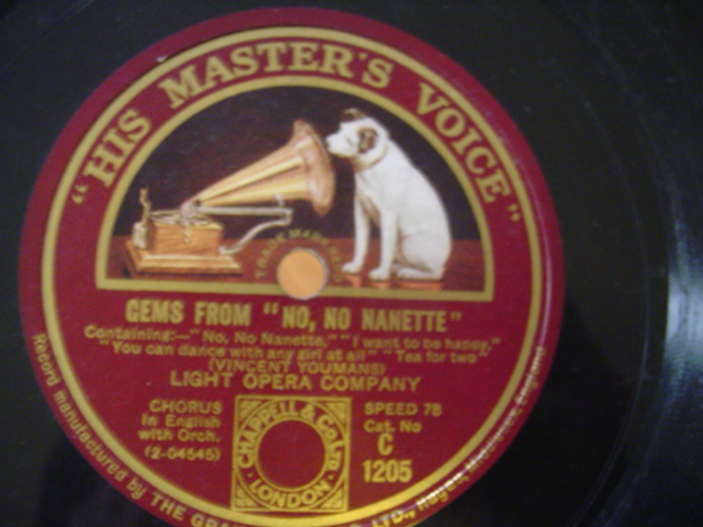 YOUMANS - NO NO NANETTE - VOCAL GEMS - HMV